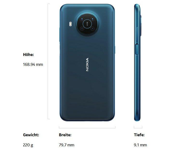 Nokia X20 Größe