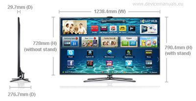 Samsung 55″ ES7000 Series 7 SMART Full HD LED TV manual