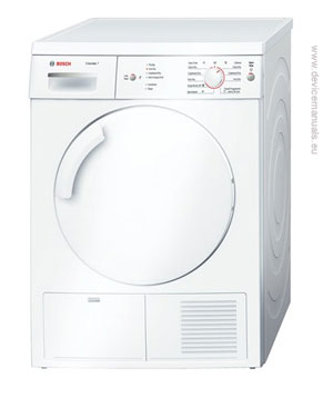 condenser dryer bosch wte84106gb classixx 7 user manual user rh devicemanuals eu bosch logixx dryer troubleshooting bosch logixx dryer instructions