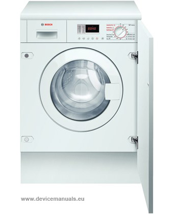 washer dryer user manual devicemanuals rh devicemanuals eu Bosch Front Load Washer Dryer Bosch Compact Washer Dryer