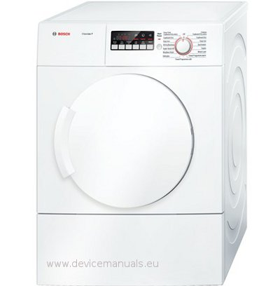 classixx 7 user manual devicemanuals rh devicemanuals eu bosch classixx washer dryer manual Bosch Front Load Washer Dryer
